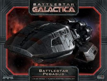 BATTLESTAR GALACTICA PEGASUS 1:4105TH SCALE MODEL KIT MOEBIUS
